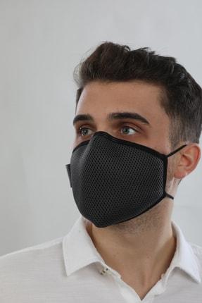AntiCoV Prestige Boyun Lastikli GRİ AntiViral Kumaştan Üretilmiş Yıkanabilir Maske 1