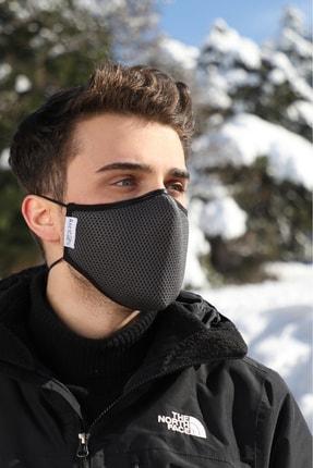 AntiCoV Prestige Boyun Lastikli GRİ AntiViral Kumaştan Üretilmiş Yıkanabilir Maske 4