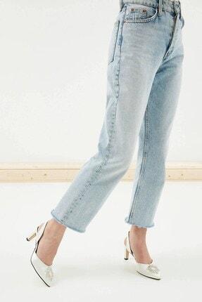 Mio Gusto Kadın Beyaz Kısa Topuklu Taşlı Abiye Ayakkabı 2