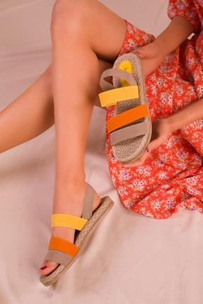 Soho Exclusive Vizon-orange-sari Kadın Sandalet 15098 1