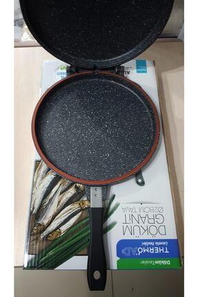 ThermoAD Alüminyum Döküm Granit Çift Taraflı Balık Tavası 28 Cm 2
