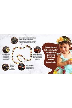 İpek Kehribar Litvanya Baltık Damla Kehribar Bebek Kolyesi Limon Renk Sertifikalı Kehribar Kolye 4
