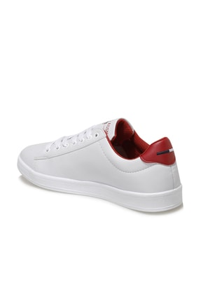 US Polo Assn Kadın Beyaz Kırmızı Franco Dhm Ayakkabı 100548974 2