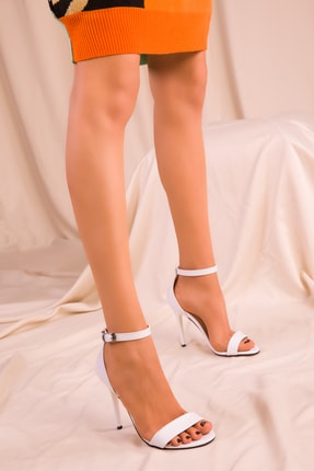 Soho Exclusive Beyaz Kadın Klasik Topuklu Ayakkabı 14399 1