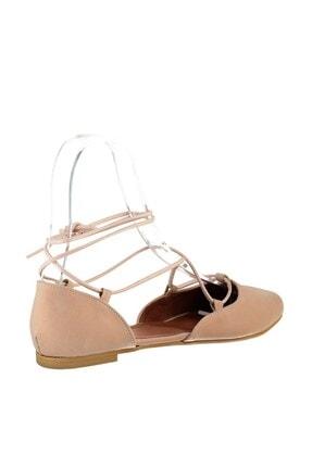 Fox Shoes Pudra Süet Ipli Kadın Babet B726047202 2