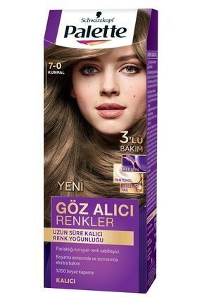 Palette Göz Alıcı Renkler Kumral (7.0) Saç Boyası 1