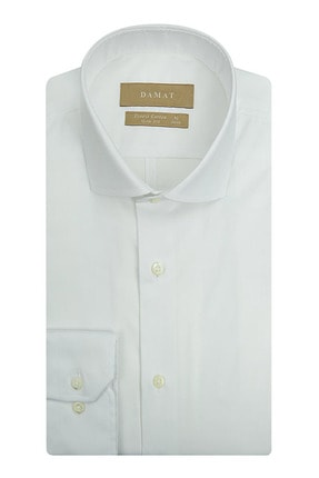 Damat Slim Fit Beyaz Desenli Gomlek 0DFF2SGTR068