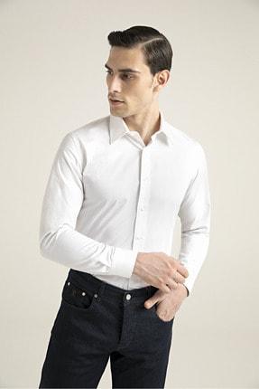 Damat Slim Fit Beyaz Gomlek 0DFF2SGNC006