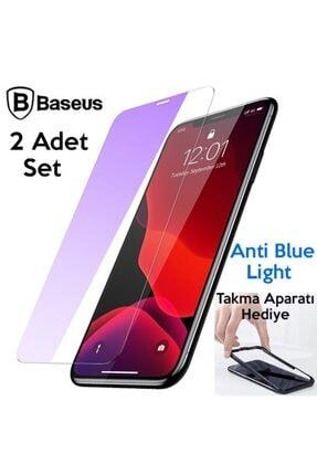 Baseus Iphone 11/iphone Xr Uyumlu Tempered Cam Anti Blue Ekran Koruyucu 2 Adet 1