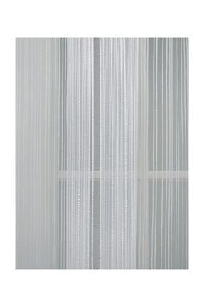 Esse Home Düz Çizgili Örme Tül Perde , Normal Pile, 1/2.5 150x260 Cm 4