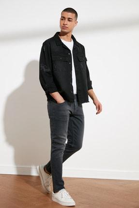 TRENDYOL MAN Antrasit Erkek Slim Fit Jeans TMNSS21JE0068 1