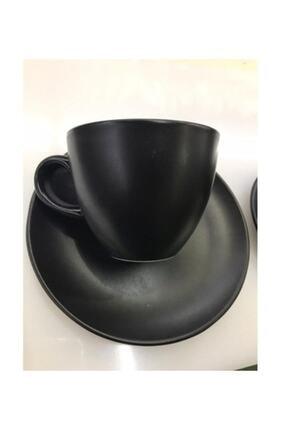 Güral Porselen Bistro Mat Siyah Çay Neskafe Fincanı 150 Cc 6lı 0