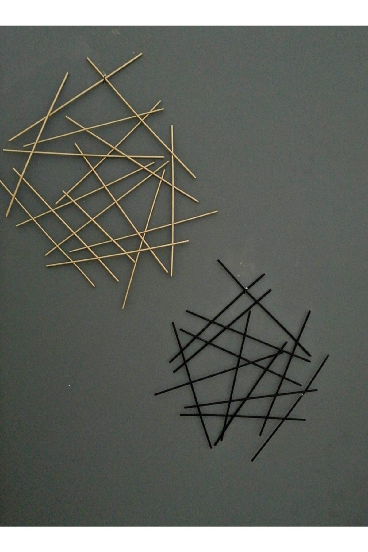 Metal Gold - Siyah Dekorasyon Ölçüler (24 cm*29cm) (30cm*35cm) Duvar Süsü Aksesuarı