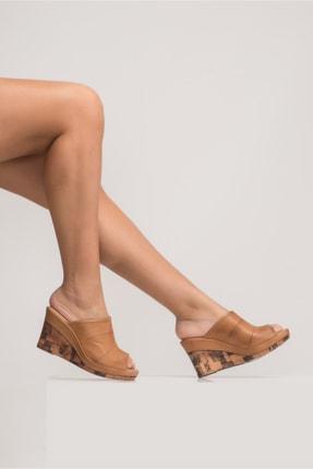 Zeynep Sıradağlı Kadın Dolgu Topuk Sandalet Taba 0