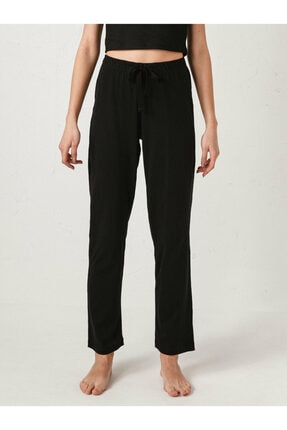 LC Waikiki Kadın Siyah Pijama Alt 3