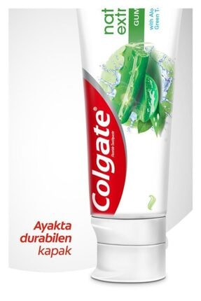 Colgate Natural Extracts Aloe Vera ve Yeşil Çay Özlü Diş Macunu 75 ml x 2 Adet + Fırça Kabı Hediye 4