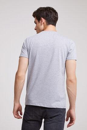 D'S Damat Erkek Gri Düz Twn Slim Fit T-shirt 3