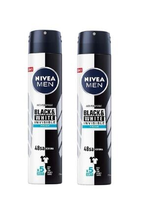 Nivea Men Black & White Invisible Fresh 200 ml Erkek Deodorant 2 Adet 0