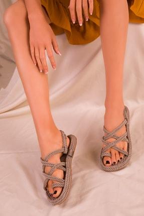 Soho Exclusive Vizon Kadın Sandalet 14737 1
