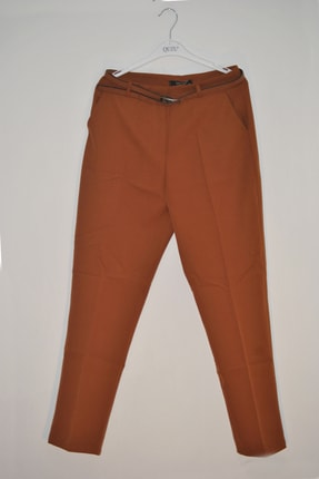Kadın Taba Beli Kemerli Pantolon 211.101