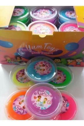 Erbek Plastik Slime Oyun Jeli Yumtoys Kutu Polymer Slime Eğitici Oyun Seti 12 Adet 80 gr 1