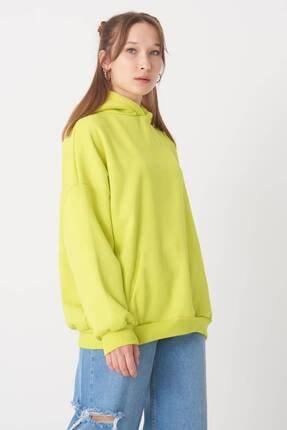 Addax Kadın Fıstık Yeşil Kapüşonlu Sweat S0935 - W12 - W13 ADX-0000022257 4