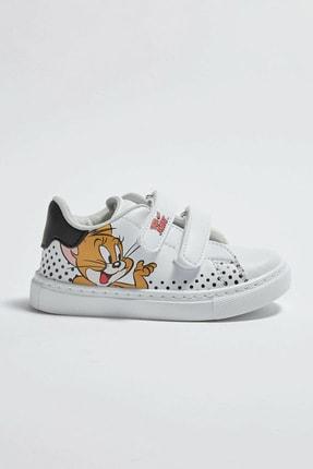 LC Waikiki Tom&Jerry Erkek Bebek Beyaz J5E Sneaker 2
