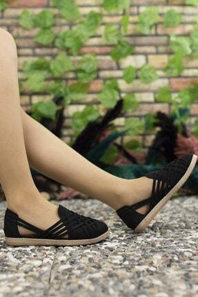 Riccon Kadın Siyah Süet Günlük Ayakkabı 0012or01 1