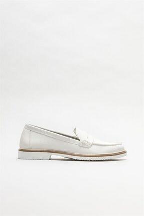 Picture of Kadın Beyaz Loafer Ayakkabı