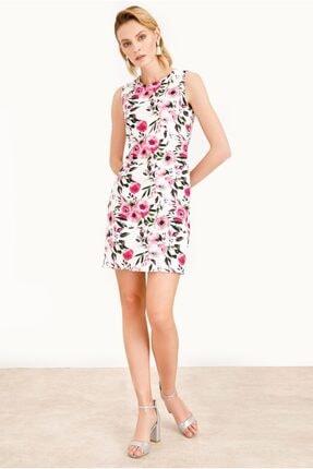 Ekol Desenli Mini Elbise 21y.5206 K5206