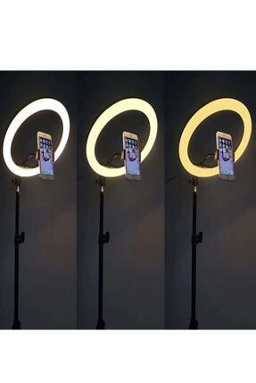 Wonderlust Youtuber Led Tripod Işıklı Telefon Tutucu Makyaj Işığı Ring Light 10 Inç + 2.1 M Tripod 2
