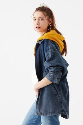 Mavi Kadın Kapüşonlu İndigo Ceket 110815-10241 2