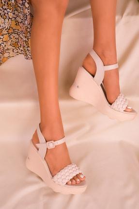 Soho Exclusive Ten Kadın Dolgu Topuklu Ayakkabı 16122 2