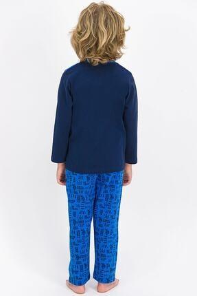 US Polo Assn U.s. Polo Assn Lisanslı Lacivert Erkek Çocuk Pijama Takımı 3