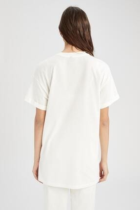 Defacto Kadın  Kısa Kol  T-Shirt 3