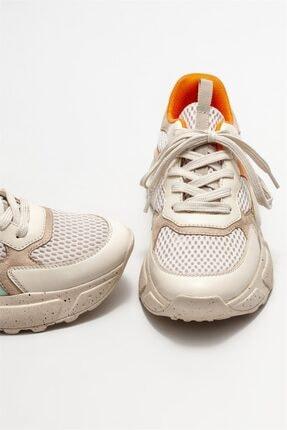 Elle Kadın Bej Spor Ayakkabı 2