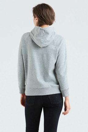 Levi's Sport Graphic Kadın Gri Kapüşonlu Sweatshirt 1