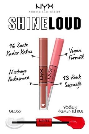 NYX Professional Makeup Shine Loud High Shine Lip Color World Shaper - Dudak Parlatıcısı 3