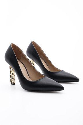 Marjin Kadın Stiletto Topuklu Ayakkabı Dukinsiyah 3