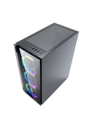 GAMETECH Ares Rainbow 4x120mm Fan Gaming Oyuncu Kasası ( Psu Yok) 3