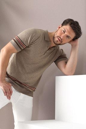 Ferraro Erkek Bej Polo Yaka Düğmeli Pamuk Triko Tshirt 4