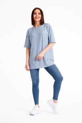 GİYSA Boyfriend Kaşkorse Mavi T-shirt 3683 2