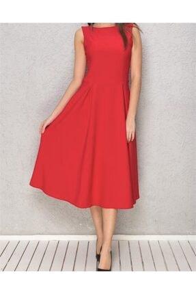 Kadın Kırmızı Elbise 100323