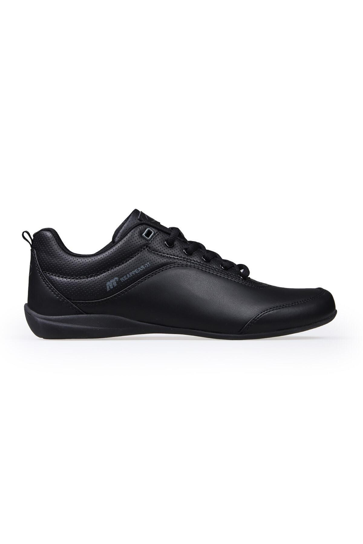 Erkek Siyah Ince Tabanlı  Spor Ayakkabı