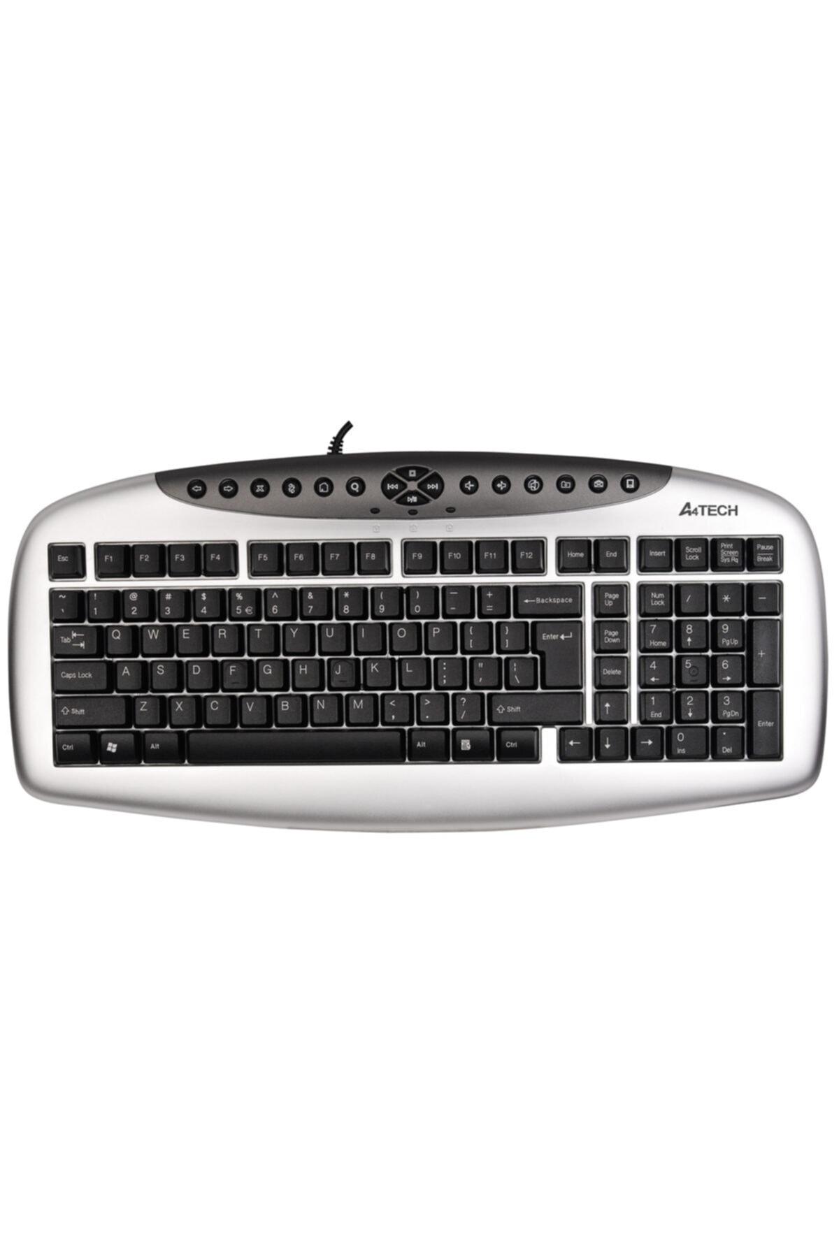 Kb21 Kablolu Ps/2 Q Klavye,gümüş-siyah