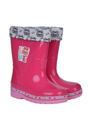 00563 Fuşya Kız Çocuk Çizme Bot Ayakkabı AYC04653