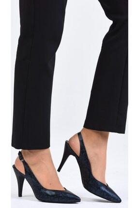 Kadın Lacivert Topuklu Ayakkabı 01KDNC1070KADINCA110