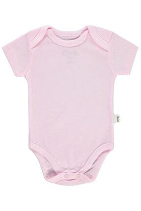 Civil Baby Unisex Bebek Pembe Bisiklet Yaka Çıtçıtlı Body 0