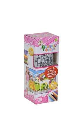 DEEMBRO Sihirli Boya Yıka Boyama Halısı 12 Kalem Hediyeli 50x50 Yeni Tasarım Unicorn 0