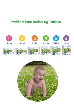 Paddlers Pure Bebek Bezi 5 Numara Junior 4 Adet (11-18 Kg)+ 40'lı Islak Havlu 4
